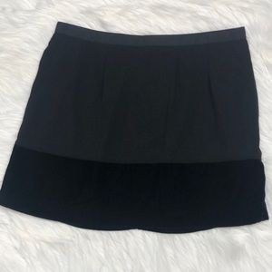 Banana Republic factory ribbon waist velvet skirt